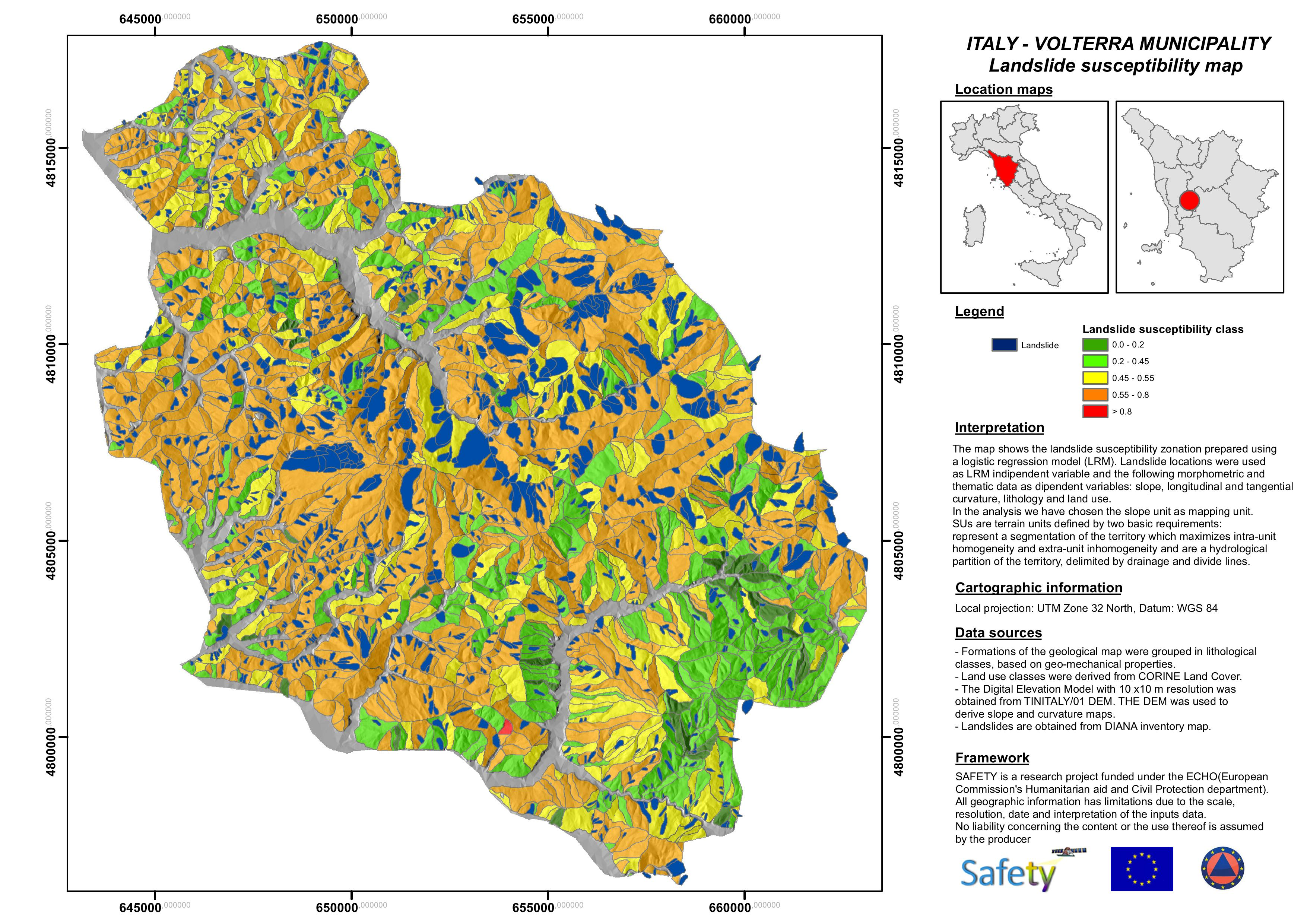 SAFETY Deliverable D.E2.2 Volterra susceptibility map
